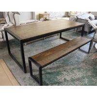 厂家直营 复古餐桌 实木办公桌 咖啡桌椅 铁艺电脑桌 网吧桌