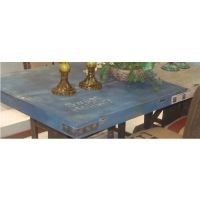 欧式乡村复古餐桌铁艺做旧桌子咖啡桌实木桌复古风家用餐桌可定做
