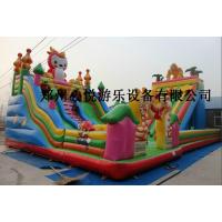 供应龙宝宝猎人充气组合滑梯 大型充气玩具蹦蹦床 儿童乐园气垫床价格