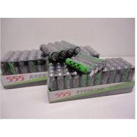 555电池7号高锌碳性7号高功率锌锰干电池 绿电 5号电池 48粒
