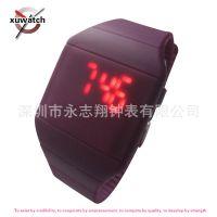 外卖速卖通畅销款超薄触摸LED手表 多功能用途新奇礼品手表-