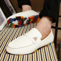 冬季新款男士保暖加棉豆豆鞋舒适低帮懒人套脚男开车鞋厂家直销