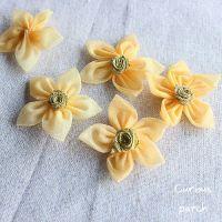 立体花朵服装辅料 手工DIY配件饰品服装补丁贴金心五瓣小花