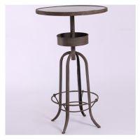 美式酒吧桌椅咖啡馆圆桌LOFT复古风格铁艺仿锈做旧怀旧吧桌咖啡桌