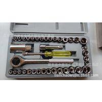 供应 精品公制40件套机修套装 套筒扳手  批发