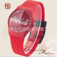 外贸热销可口可乐广告活动促销礼品手表定制 创意铁罐包装watch
