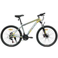供应恩达自行车24速铝合金车架双碟刹山地自行车QS7.5D禧玛诺变速套件