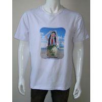 【厂家直销】热转印纯棉T恤烫图 卡通短袖T恤烫钻 具体价格请询价