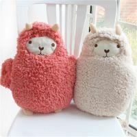 出口日本堂毛绒羊驼玩偶 可插手暖手捂 暖水壶/热水袋 一件代发