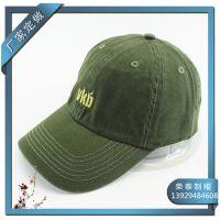 棒球帽 工厂生产环保纯棉洗水帽 VKD绣花鸭舌帽 春夏潮帽可调节
