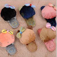 韩版 好极行 卡通kitty可爱时尚毛绒拖鞋 创意秋冬室内保暖拖鞋