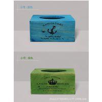 特价zakka木质纸巾盒复古实木餐巾纸盒做旧餐厅用方形纸抽盒