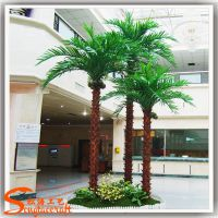 棕榈树厂家定做 批发仿真植物棕榈树 室内装饰树 人造棕榈树皮