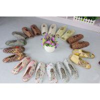厂家生产供应 精美新款针织布艺拖鞋 个性布艺拖鞋批发 价格优惠