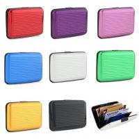 ebay速卖通热卖  8种颜色 7卡铝制信用卡包 光滑条纹铝制卡夹