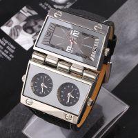 oulm欧蕾男士品牌手表 石英表独特的设计九针精工运动腕表 A238