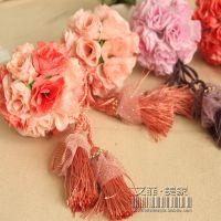 创意礼品  结婚必备  立体玫瑰花球  挂件  挂饰  车用挂饰