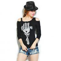 2014秋新打底衫短款个性修身长袖t恤女韩版衣服 女t恤