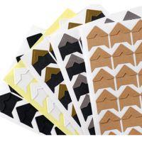 优质24枚入 纯手工角贴 牛皮纸角贴 照片DIY相册配件