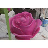 供应鲜花雕塑 婚庆道具泡沫雕塑 玫瑰花雕塑