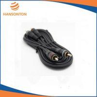 供应厂家订做HST-5007 黑色双莲花音频线 电视功放 连接线 电脑音箱线 RCA线 AV线