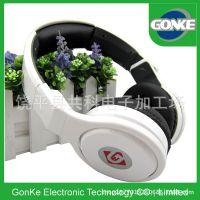 厂家供应 新款头戴式白色耳麦 青年时尚线控高档耳机 手机耳机
