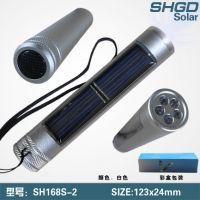 太阳能手电筒 5个高亮度LED 照明电筒 节电产品批发