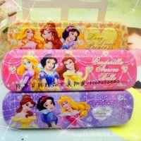 9917正品迪士尼公主铁笔盒/文具盒  学生文具礼盒代理批发