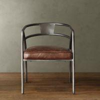 美式乡村仿锈做旧餐椅 批发铁艺实木椅子酒店椅子餐厅椅子咖啡椅