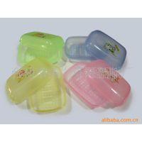 供应588带刷透明塑料皂盒(图)