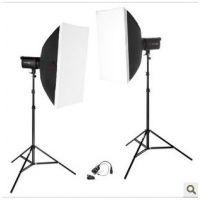 金贝SPARK300闪光灯 双灯DM-50*70柔光箱套装 服装摄影产品拍摄