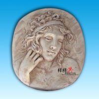 厂家直销树脂工艺品挂件 欧式浮雕美女头像壁挂 家居酒店软装饰品