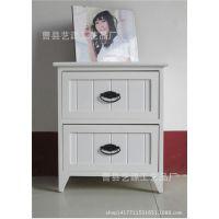 厂家直供白色欧式双层收纳柜 抽屉式收纳柜 定做批发实木组合柜