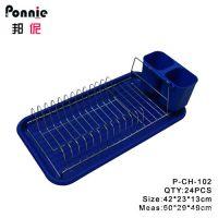 邦伲 厨房用品 铁丝沥水碗架 碗碟架 带快笼 P-CH-102 量大从优