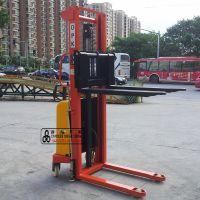 专业异性定做改装半自动电动液压升降叉车 220v半电动堆高车