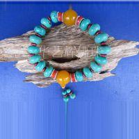 批发供应绿松石佛珠念珠 经典佛家念珠佛教用品 天然绿松石手链