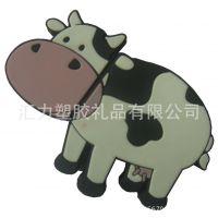 工厂直销 PVC软胶U盘套硅胶U盘套 奶牛卡通动物U盘外壳