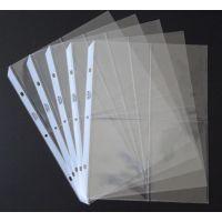 厂家定制生产 优质环保PP内页袋 透明3孔活页相册内页