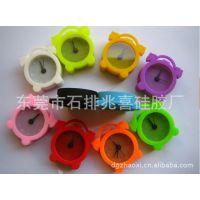 厂家直销日韩硅胶小闹钟 、风靡全球儿童礼品闹钟 、迷你硅胶闹钟