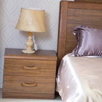 佛山金美斯现代中式实木床头柜M1303虎斑木床头柜