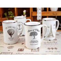 zakka风怀旧陶瓷仿搪瓷杯 地中海风 做旧复古水杯咖啡杯牛奶杯
