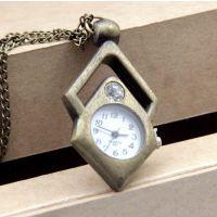 创新挂件表古铜挂链表挂件表钥匙扣表 菱形方块