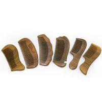包包宝 高档正宗绿檀梳子 檀香木梳 护发防静电保健木头梳M25A