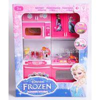 迪士尼frozen冰雪奇缘/大冒险 公主过家家 迷你厨房 儿童玩具礼物