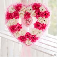 心形婚礼用品婚礼房间场地布置用品韩式门饰挂饰装饰花环