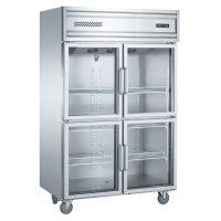 康派斯立式四玻门风冷冷藏冷柜厨房展示柜点菜柜酒店专用玻璃门柜