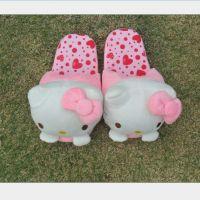 冬季保暖软底珊瑚绒棉拖鞋 可爱hellokitty凯蒂猫家居鞋