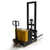 无叉腿半自动堆高车 500kg半电动升高车