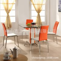 山西西餐厅家具哪里有?上品厂家热销【SP-DST705】时尚高档透明玻璃桌 经典户外配套桌椅