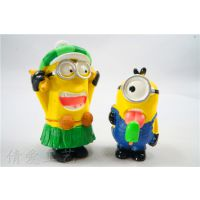 卑鄙的我2神偷奶爸动漫 2代4款3D眼镜小黄人套装摆件 家居摆件